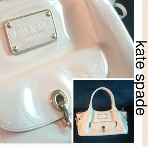 🦋Kate Spade white patent leather purse
